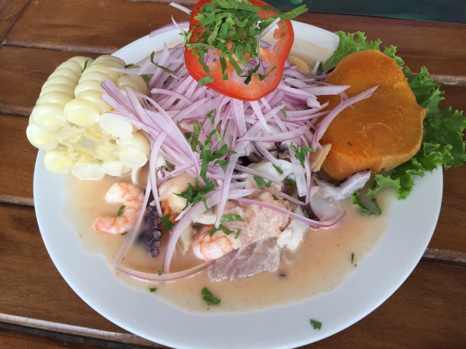 The Ceviche Mixto at El Piloto in Paracas.