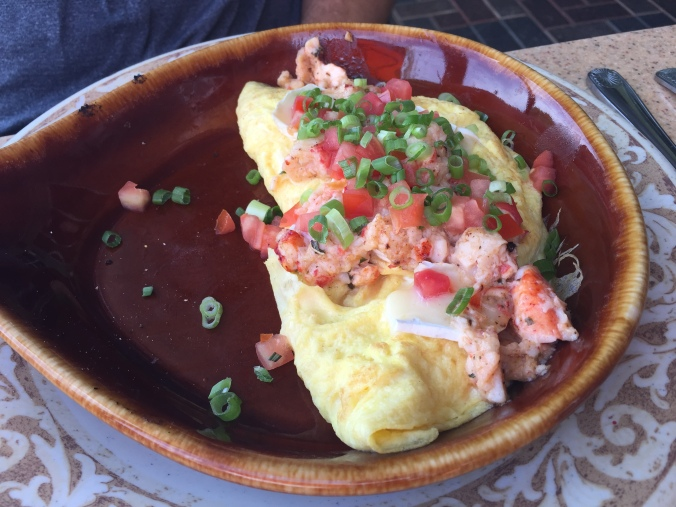 The Lobster & Brie Omelet from Another Broken Egg Cafe.